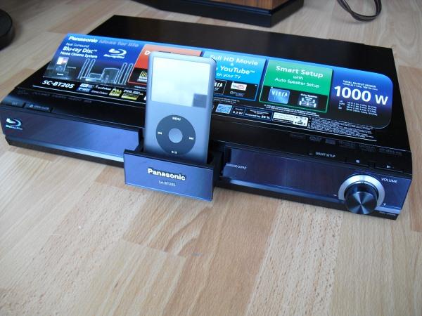 Xxl test panasonic blu ray 5 1 komplettsystem sc bt205 16 07 2009