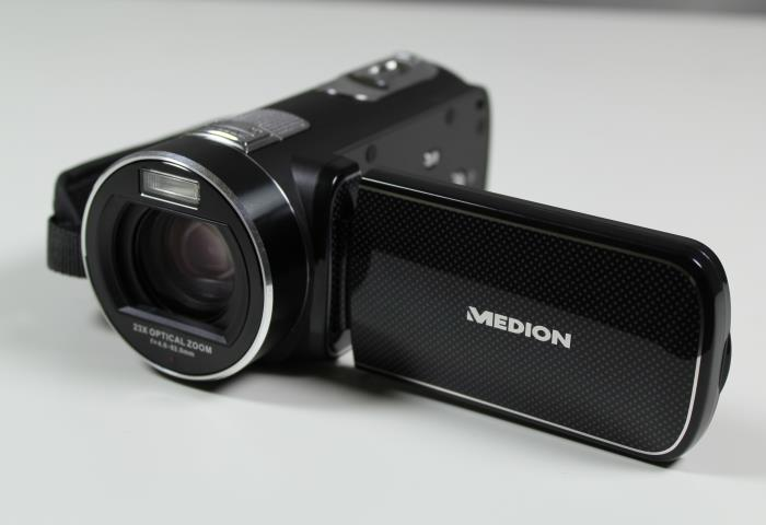 test medion life x47023 full hd camcorder mit. Black Bedroom Furniture Sets. Home Design Ideas