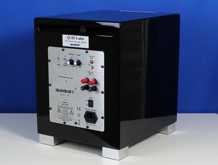 test quadral subwoofer qube 8 aktiv hochwertigkeit f r 399 eur. Black Bedroom Furniture Sets. Home Design Ideas