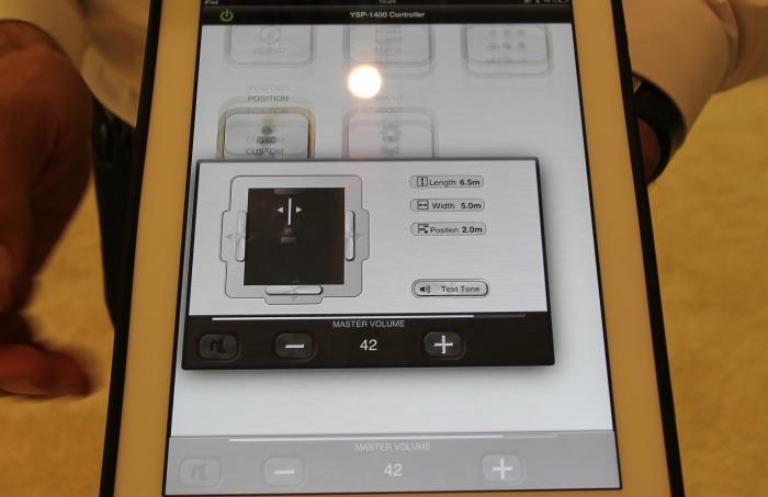 Ifa 2013 highlights neuheiten von yamaha area dvd for Yamaha ysp 1400 app