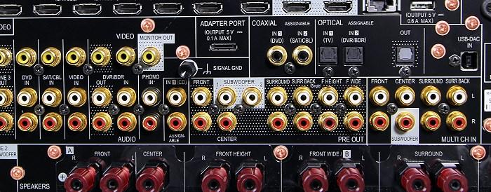 Pioneer SC-LX87 Anschluesse Rueckseite2