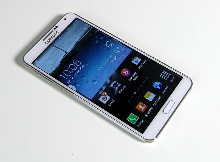 Samsung Galaxy Note3 Frontansicht