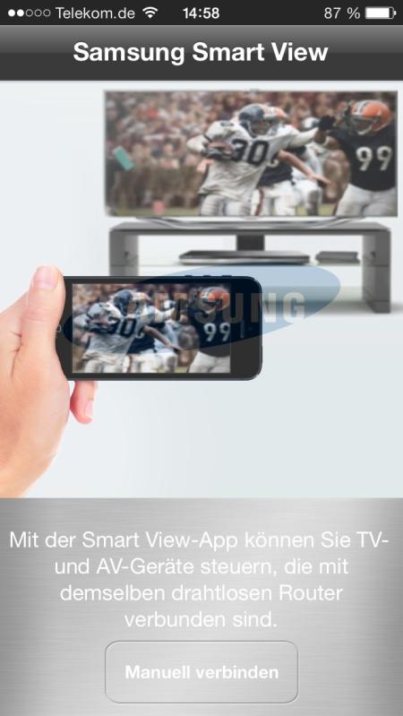 Samsung UE55F8590 App 1
