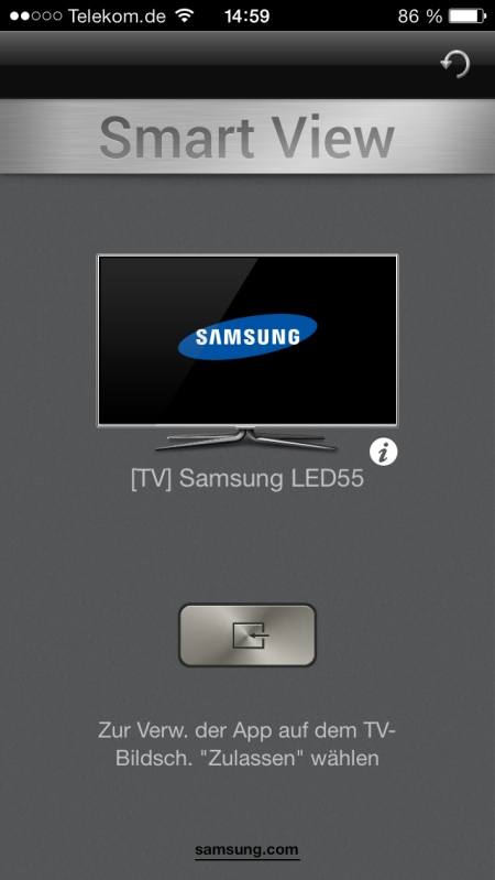 Samsung UE55F8590 App 2