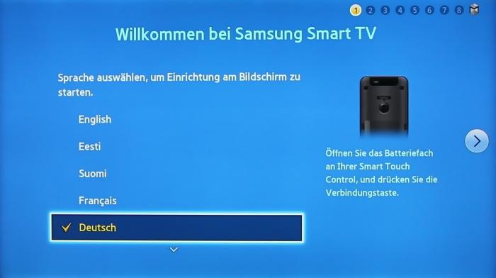 Samsung UE55F8590 Menuebild 1