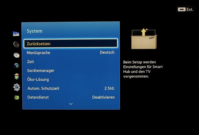Samsung UE55F8590 Menuebild 42