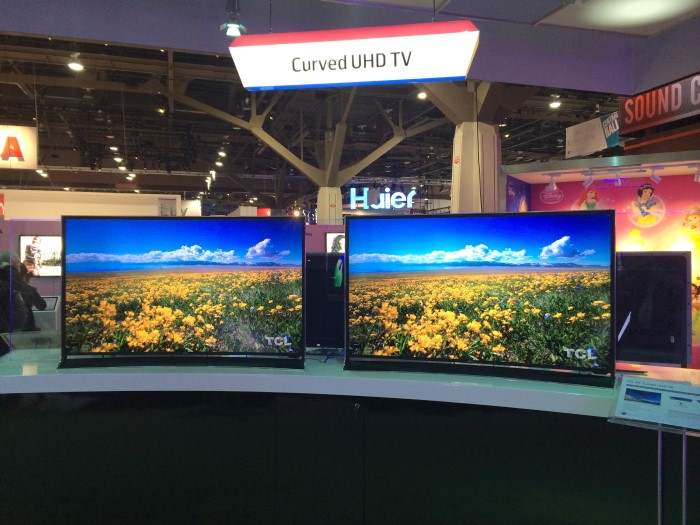 ces 2014 der auftritt von tcl mit neuen uhd curved und oled tvs area dvd. Black Bedroom Furniture Sets. Home Design Ideas