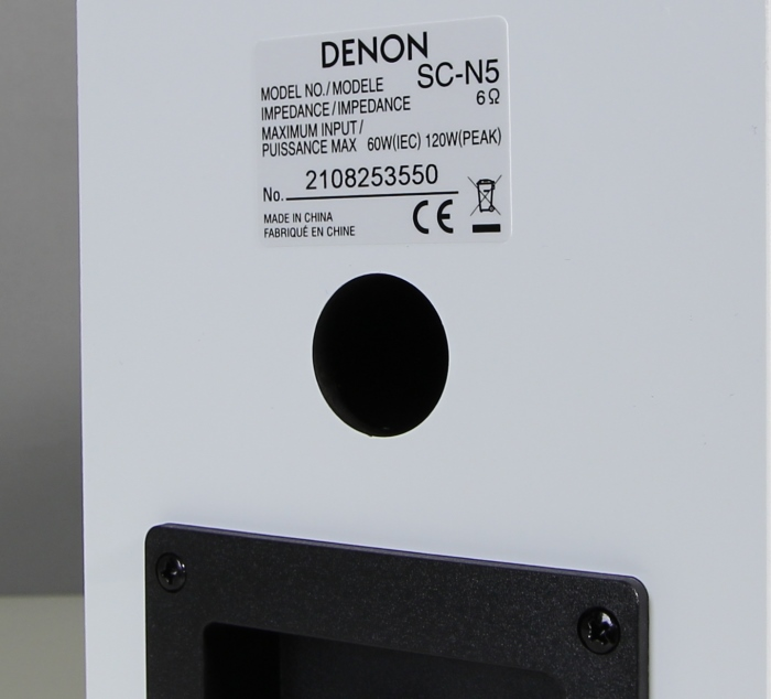 Denon Ceol Piccolo SC-N5 Bassreflexrohr