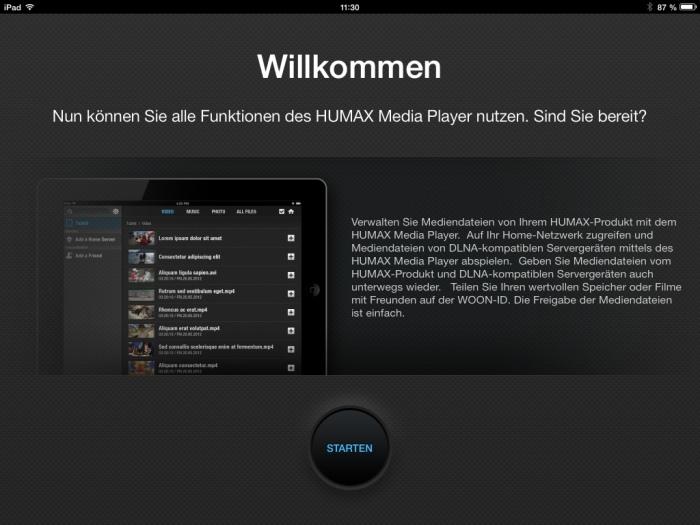 Humax iCord Evolution Media Player App1