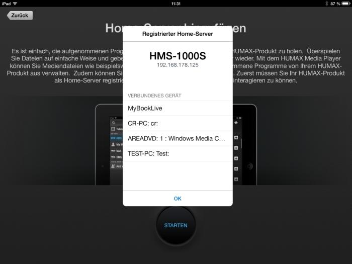 Humax iCord Evolution Media Player App4