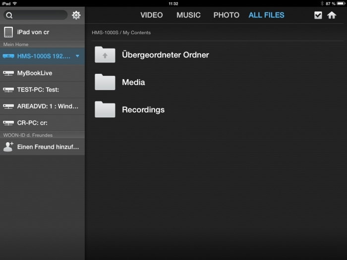 Humax iCord Evolution Media Player App6