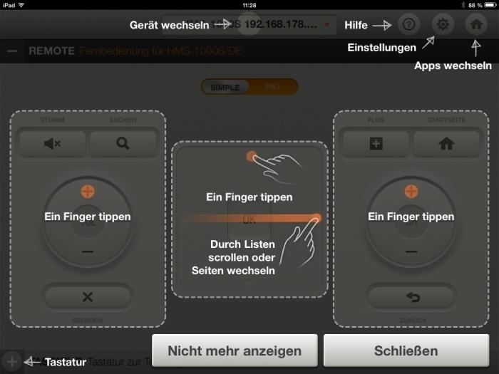 Humax iCord Evolution tv remote App2