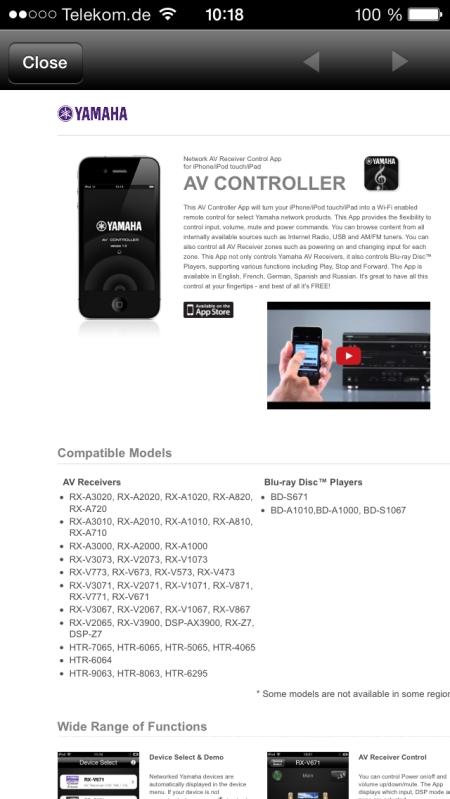 Yamaha RX-A3030 App 3