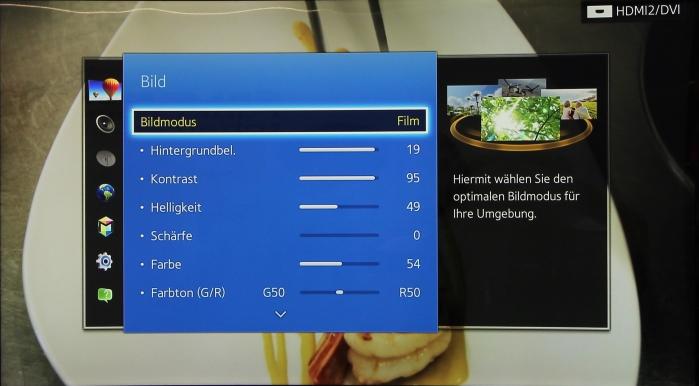 Samsung HU8590 Menue3