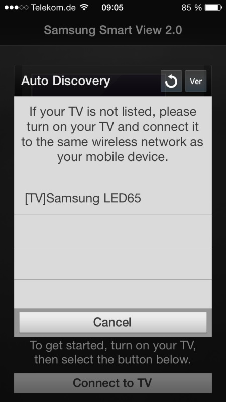 Samsung UE65H8090 App 1
