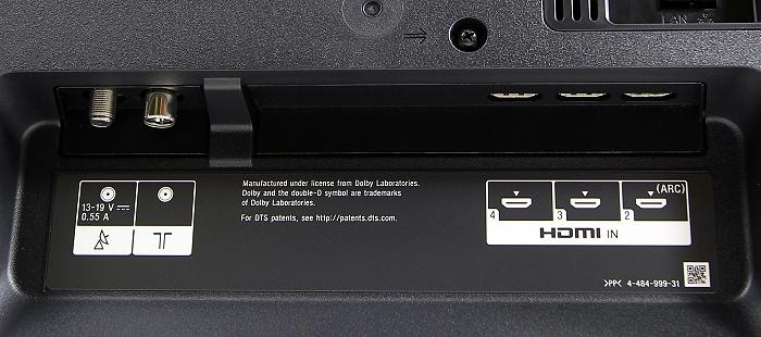 Sony KDL50W805 Anschluesse Rueckseite3