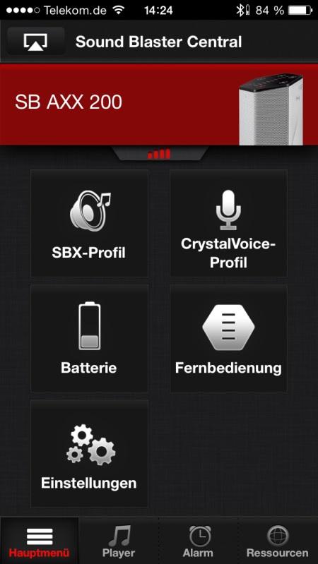 Sound Blaster Central App 2