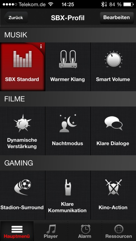 Sound Blaster Central App 3