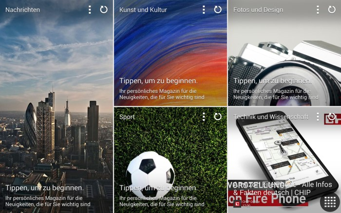 Samsung Galaxy Tab Pro Flipboard