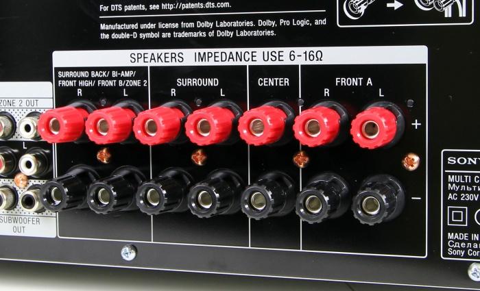 Sony STR-DN1050 Anschluesse Rueckseite1