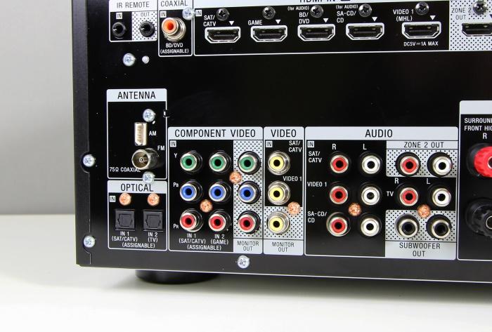 Sony STR-DN1050 Anschluesse Rueckseite2
