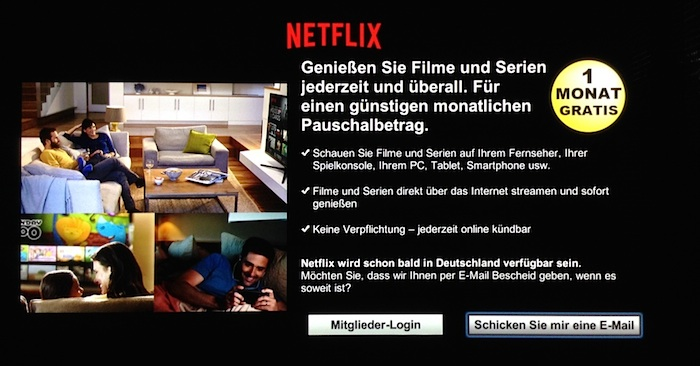 Netflix Panasonic TV