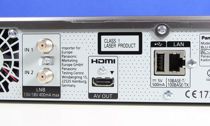 Panasonic DMR-BST845 Anschluesse Rueckseite2