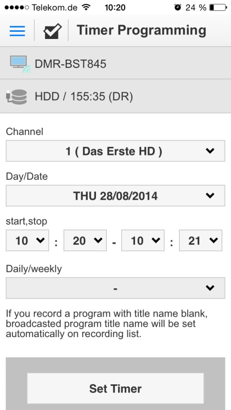 Panasonic DMR-BST845 App 14
