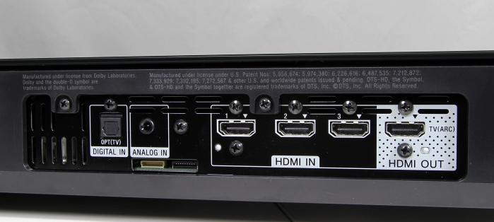 Sony HT-XT1 Anschluesse Rueckseite