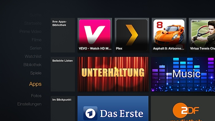 Amazon Fire TV Apps