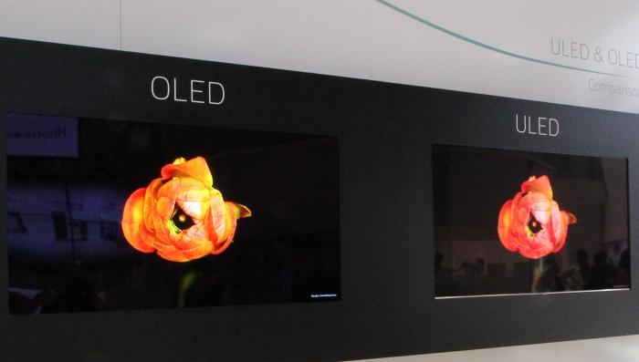 Hisense Vergleich OLED ULED 2