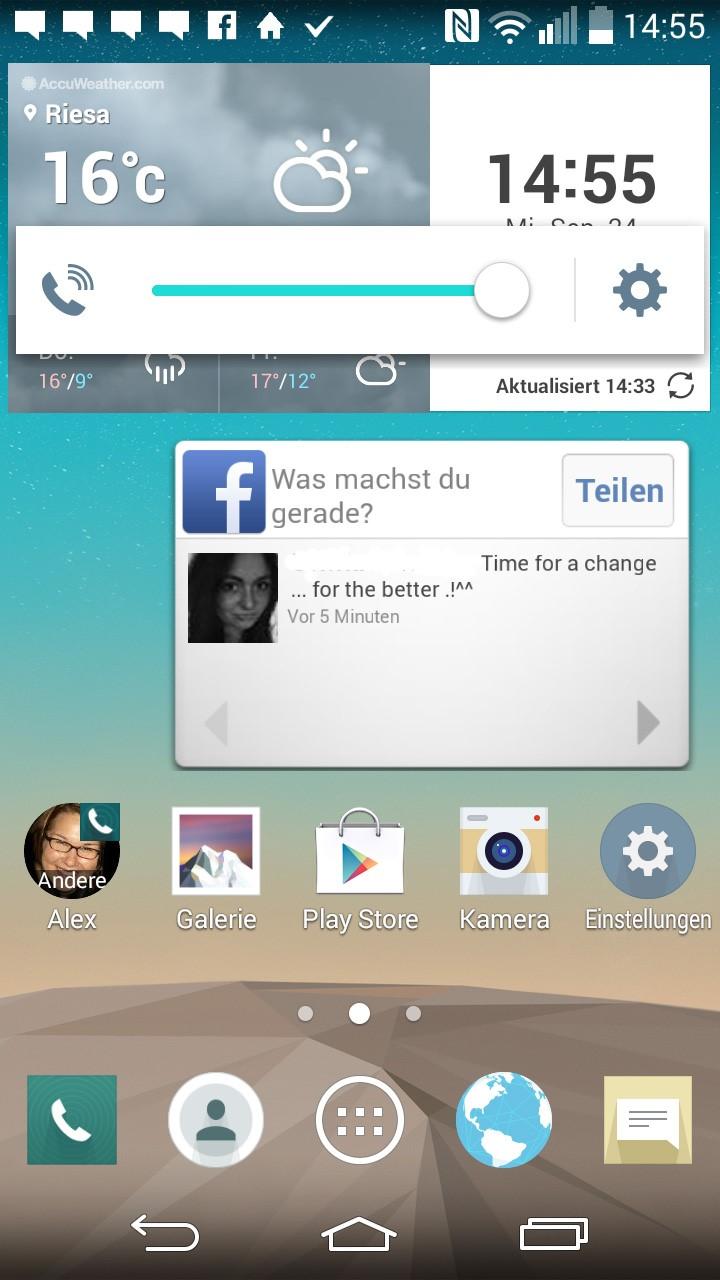 LG G3s Screenshot