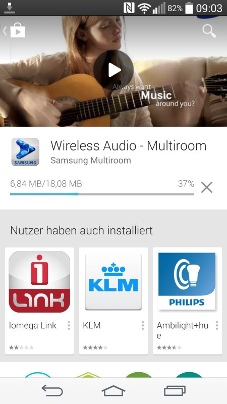 Samsung Multiroom Android Screenshots 1