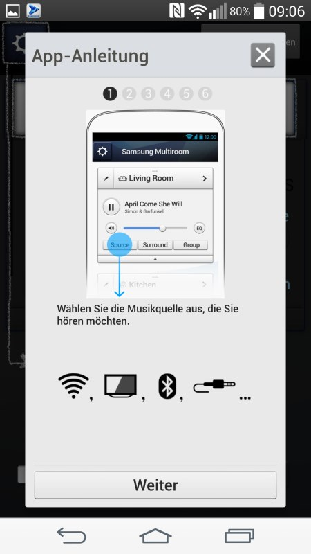 Samsung Multiroom Android Screenshots App Anleitung 1