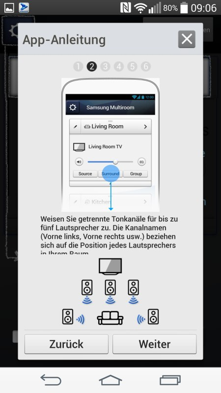 Samsung Multiroom Android Screenshots App Anleitung 2