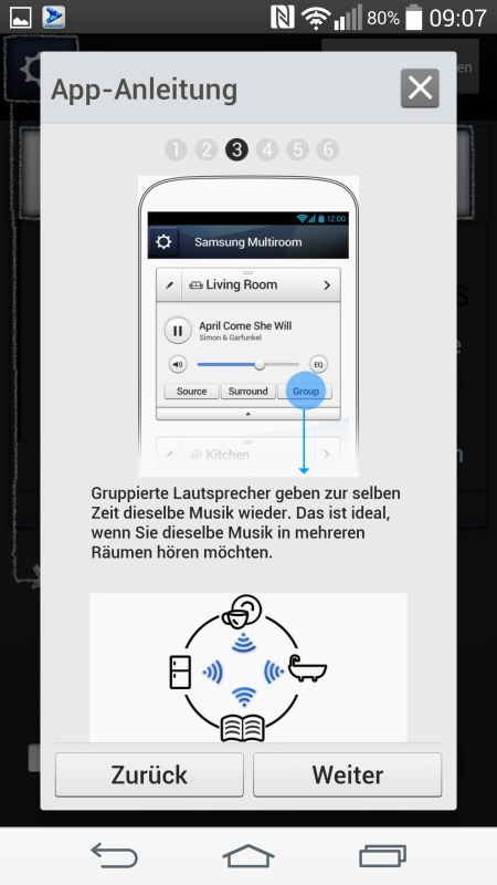 Samsung Multiroom Android Screenshots App Anleitung 3