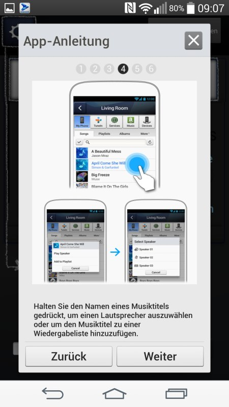 Samsung Multiroom Android Screenshots App Anleitung 4