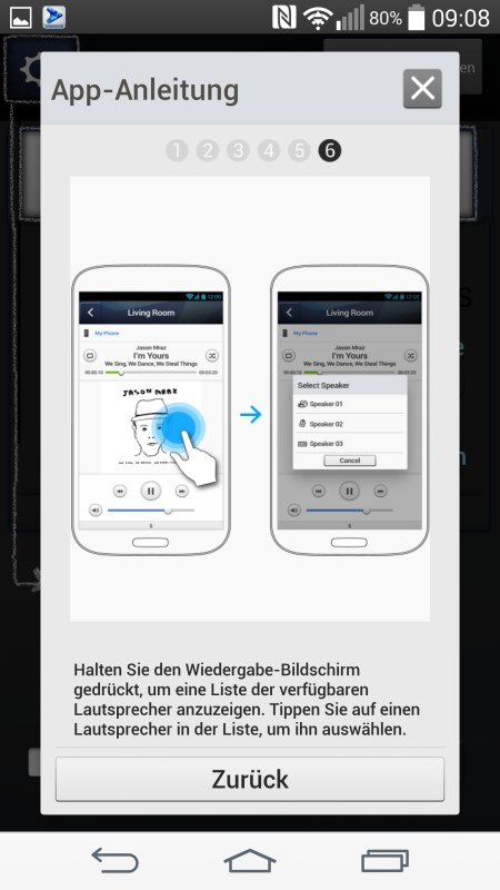 Samsung Multiroom Android Screenshots App Anleitung 6