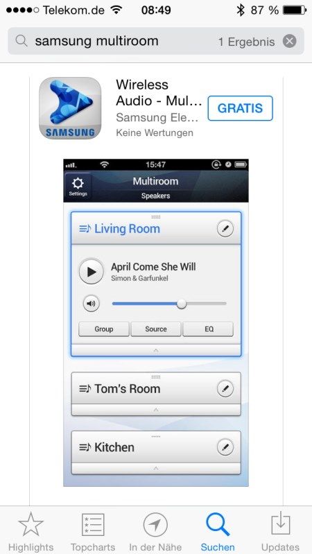 Samsung Multiroom iOS Screenshots 1