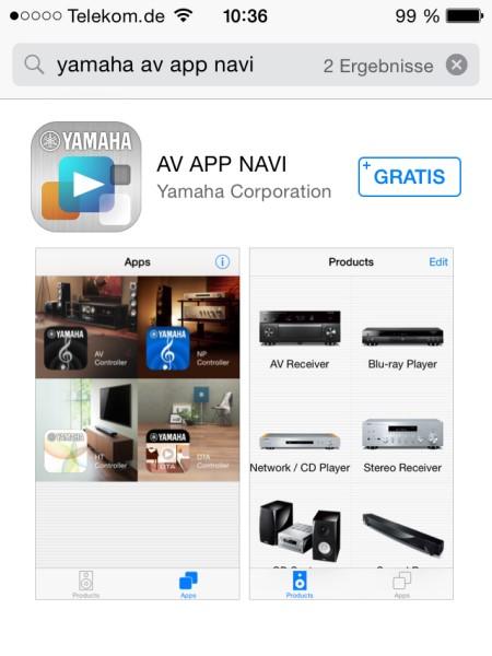 Yamaha AV APP NAVI 1