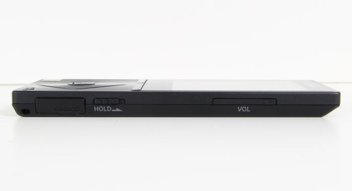 Sony NZW-A15 Bedienelemente Seitlich
