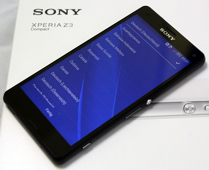 Sony Xperia Z3 Compact Front Seitlich4
