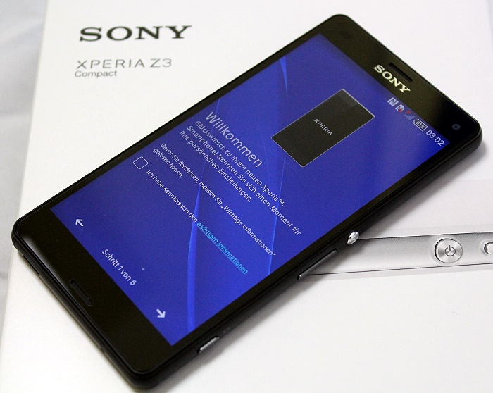 Sony Xperia Z3 Compact Front Seitlich5