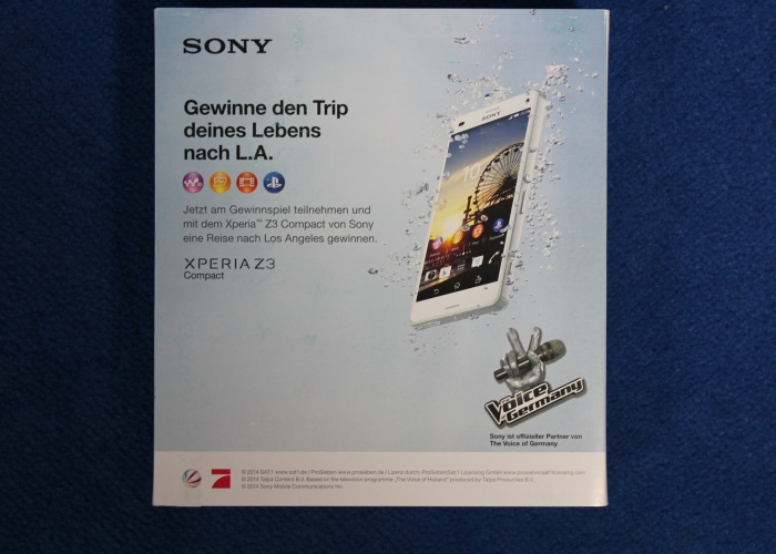 Sony Xperia Z3 Compact Verpackung1