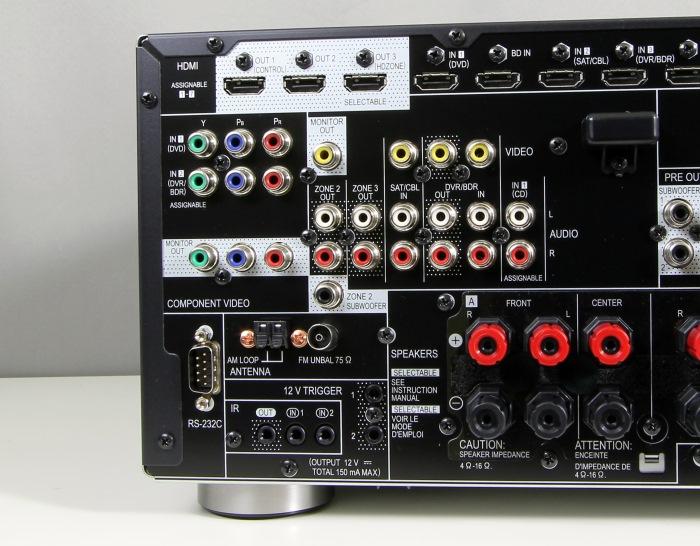 Pioneer SC-LX58 Anschluesse Rueckseite2