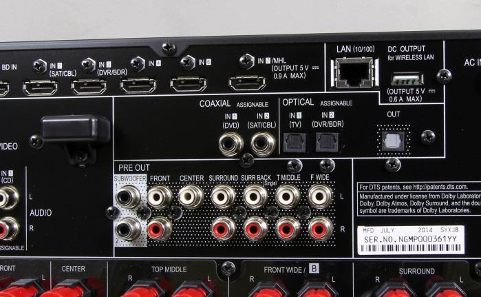 Pioneer SC-LX58 Anschluesse Rueckseite3