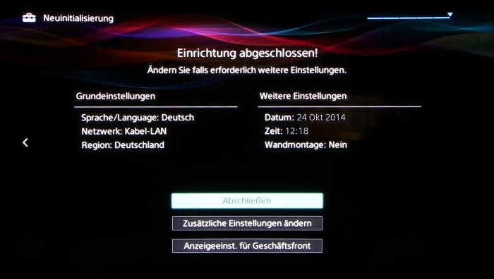 Sony KD65S9005 Screenshot 12