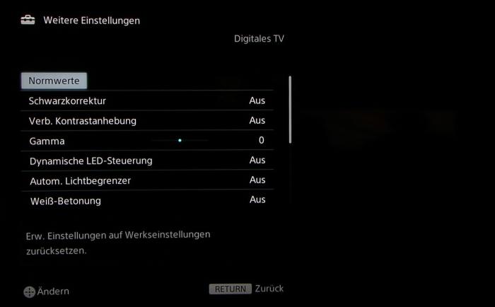 Sony KD65S9005 Screenshot 25