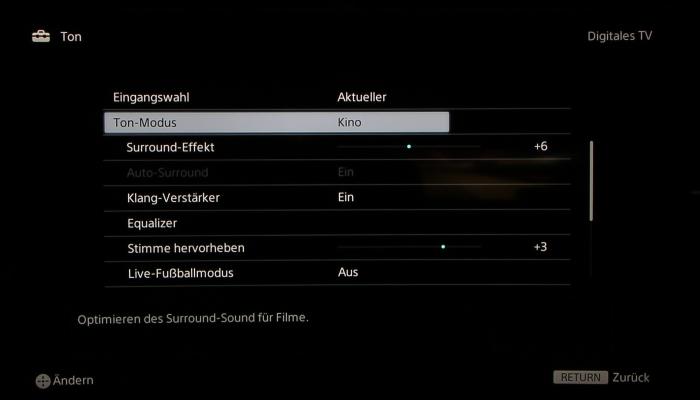 Sony KD65S9005 Screenshot 27