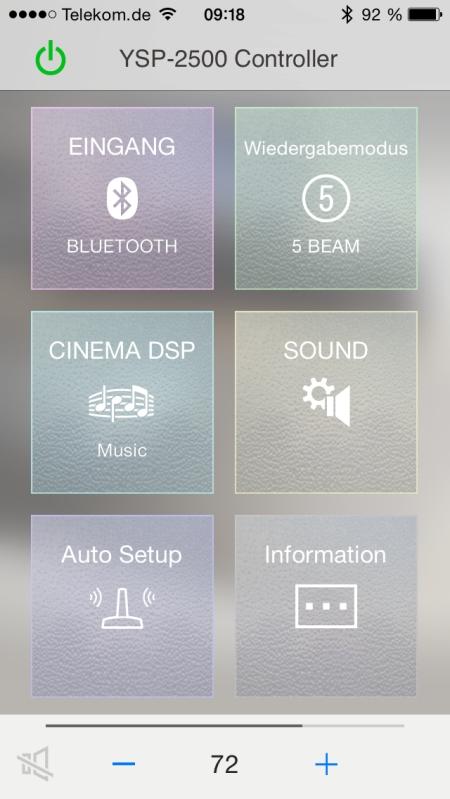Yamaha HT Controller App 2